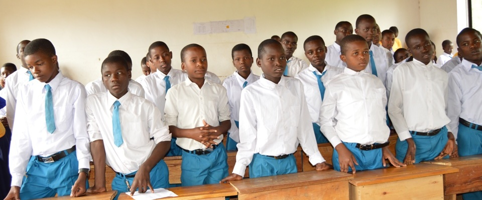 Group of Students during Welcome form one 2017 ceremony.